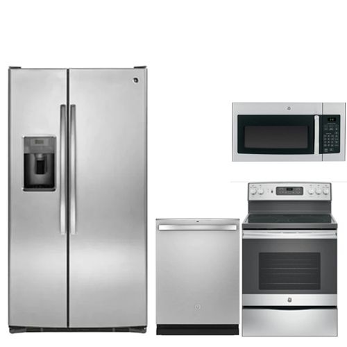 GE Stainless Steel 4PC Appliance Package - GSXSB5