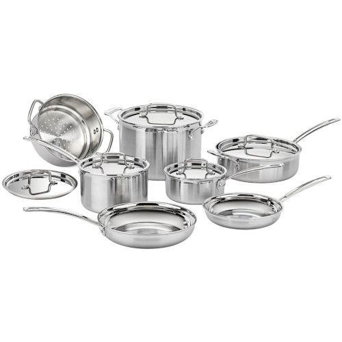 Cuisinart Multiclad Pro Triple Ply Stainless Cookware 12 Piece Set